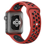 Sport Plus Silicone Band Strap - Apple Watch 38 / 40mm - Red / Black